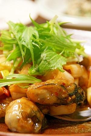 牡蠣の辛子炒め
