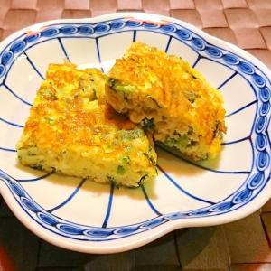 パクチーと鶏挽肉の玉子焼き