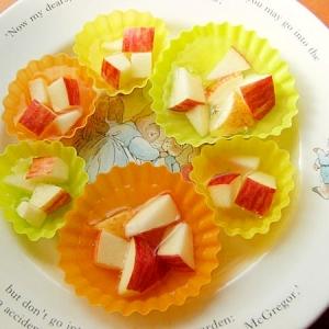 りんご味の黒酢ドリンクで寒天ゼリー♪(林檎)