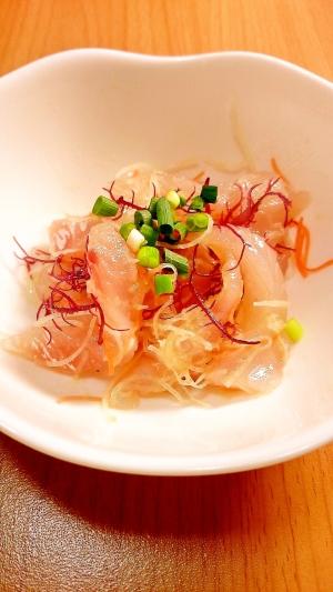スーパーの刺身で簡単おつまみ!鯛のカルパッチョ