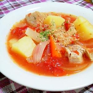 ゴロゴロ豚のトマト味ポトフ^00^