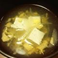 豆腐と玉ねぎのかき玉汁