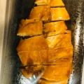 鶏胸の粕漬ステーキ@バター醤油風ソース。