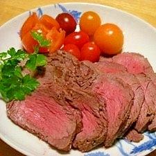 レンジで3分☆下味は塩麹☆ローストビーフ