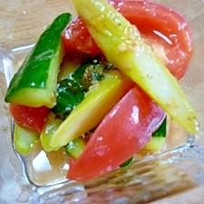 トマトとアスパラときゅうりの簡単あっさりマリネ