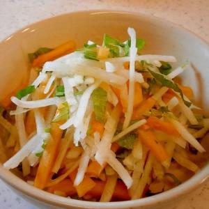自家製ドレッシングで頂く☆大根と柿のサラダ☆
