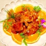 【中華ごま】鶏肉のオレンジ煮
