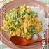 高菜の卵とじ丼