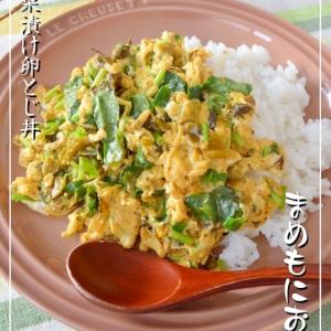 味付けは、高菜漬けだけで簡単!卵とじ丼