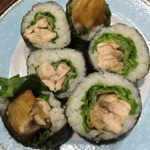 照り焼きチキンの巻き寿司