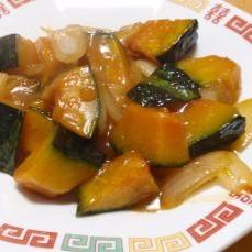 ほくほく甘くて美味しい。かぼちゃの酢豚風甘酢あん