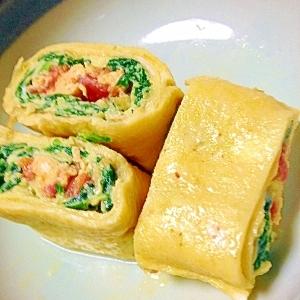 野菜入り三色卵焼き