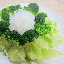 簡単~レタス、大根、ブロッコリーのサラダ