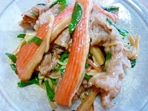 *お弁当に*牛肉&かにかま&ニラの焼き肉のタレ炒め