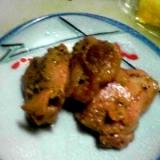 酒の肴:鶏肉の山賊焼き風