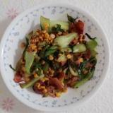 チンゲン菜コーン