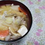 豚汁でお雑煮☆