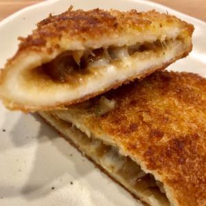 残ったカレーで★美味しいチーズin揚げパン♪