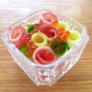 簡単おつまみ☆ズッキーニと生ハムのサラダ