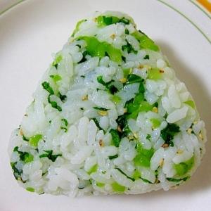 長野県 野沢菜のおにぎり