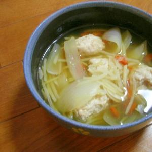 漢方食材のクコの実を使って 鶏団子スープ