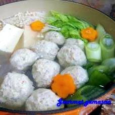 【定番】我が家の鶏団子鍋(軟骨入り)