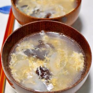 生きくらげと玉ねぎのかき玉スープ