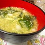 ブナピーとわかめの卵スープ