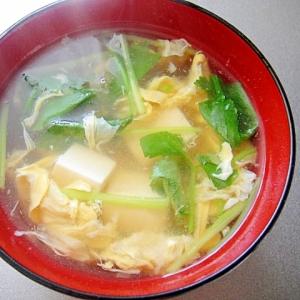 三つ葉と豆腐のとろみかき玉汁
