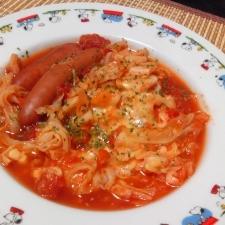 きゃべつとウインナーのトマト煮