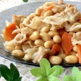 ご飯が進む★豚バラ肉と大豆の炒り煮