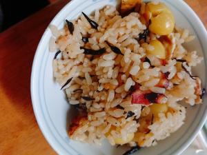 タコと銀杏の炊き込みご飯