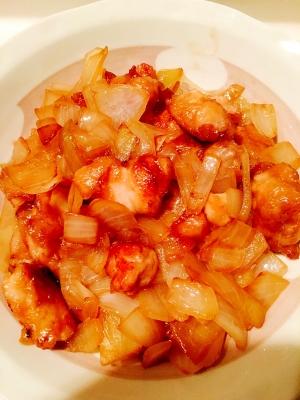 鶏肉と玉ねぎの生姜焼き