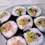 魚ニソ&高菜漬けde彩り海苔巻き♪