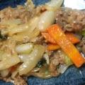 焼肉のたれで簡単!牛肉と小松菜炒め