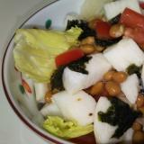 長芋と納豆とトマトのねばねばサラダ