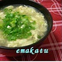 千切り生姜と卵のとろとろスープ
