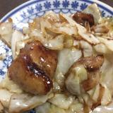 キャベツと鶏肉のガリバタ炒め