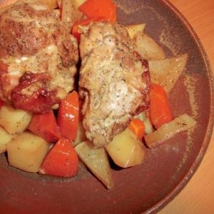 鶏肉のマヨバジル風味焼き丼