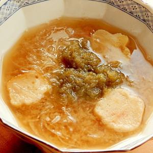 5分でまな板なし!刺身のツマ(大根)で❤味噌汁♪