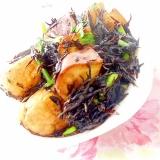 バター風味de❤がんもと薩摩芋とひじきの炊いたん❤