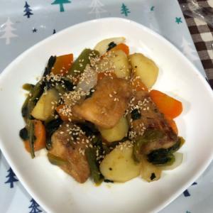 夕飯に!鮭と野菜の甘辛炒め煮