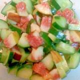 きゅうりとイチジクのサラダ