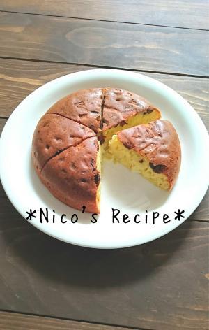 レーズンとりんごの炊飯器ケーキ