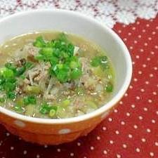 ちょっぴり辛い春雨スープ