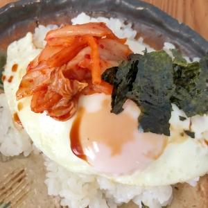 キムチと目玉焼きのご飯☆彡