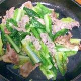 豚バラロメインレタス炒め