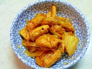 簡単♪おつまみ♪鮭のハラスの白菜キムチ炒め