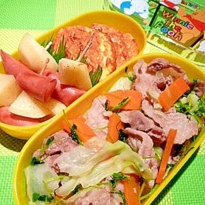 お弁当に簡単!肉野菜炒め