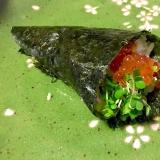 いくら溢れる手巻き寿司